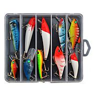 お買い得  釣り用アクセサリー-10 pcs ハードベイト / ルアーパック / ルアー ハードベイト / ルアーパック 硬質プラスチック 海釣り / 川釣り / バス釣り