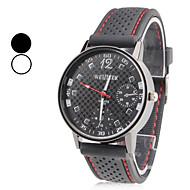 Недорогие Мужские часы-Муж. Наручные часы Японский Кварцевый Повседневные часы силиконовый Группа Кулоны Черный