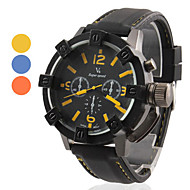 preiswerte -V6 Herren Militäruhr Quartz Japanischer Quartz Silikon Band Schwarz Orange Gelb Blau
