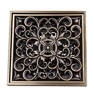 baratos -padrão de flor contemporânea quadrado antigo ganho de cobre e cobre