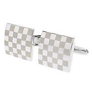 billige -Kvadrat Sølv Manchetter Rustfrit Stål / Legering Kostume smykker Til