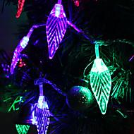 7m lumină colorată în formă de frunză de 30 de LED-uri a condus lampă de benzi zână pentru decorarea festival (220V)