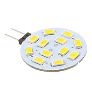 abordables Focos LED-2 W 240 lm G4 Luces LED de Doble Pin 12 Cuentas LED SMD 5630 Blanco Cálido 12 V / # / CE
