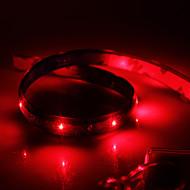 tanie Taśmy LED-wodoodporne 60cm 24-led czerwony Taśma LED światła (12v)