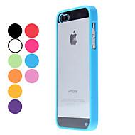 abordables Liquidación-Funda Para iPhone 5 Apple Funda iPhone 5 Transparente Funda Trasera Color sólido Dura ordenador personal para iPhone 5