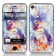 Цветочные Передняя и задняя Pattern Защитная пленка для iPhone 4/4S