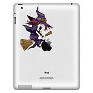 olcso iPad kijelzővédő fólia-boszorkány minta védő matrica iPad 1, iPad 2, iPad 3 és az új iPad