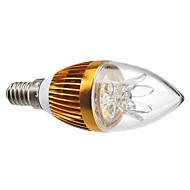 3w e14 levou luzes de vela c35 3 de alta potência levou 300-350lm quente branco 3000k decorativo dimmable ac 220-240v