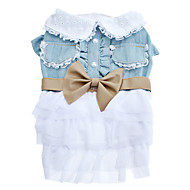 cheap Pet Supplies Accessories-Dog Dress Dog Clothes Bowknot Terylene Costume For Pets Cosplay