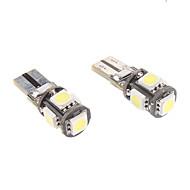 preiswerte -t10 1W 5x5050smd Weißlicht-LED für Auto Instrument / Seitenmarkierungsleuchte canbus (12V, 1-Paar)