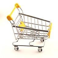 お買い得  文房具-ミニかわいいシミュレーションショッピングカート合金デスクストレージ