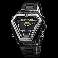 Недорогие Фирменные часы-WEIDE Муж. Кварцевый Японский кварц Наручные часы Армейские часы Будильник Календарь Секундомер Защита от влаги LED С двумя часовыми