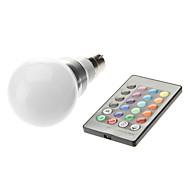 お買い得  LED ボール型電球-3W 1600-1700lm B22 LEDボール型電球 LEDビーズ ハイパワーLED リモコン操作 85-265V 220-240V