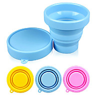 cheap -Candy Color Silicone 170ml Folding Cup (Random Color)