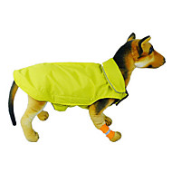 Cat Dog Coat Vest Dog Clothes Nylon Winter Spring/Fall Windproof Keep Warm Solid Orange Yellow Rose Red Blue Costume For Pets