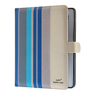 Colorful Stripes PU Full Body Case with Hidden Card Slot and Stand for iPad 2/3/4 (Optional Colors)