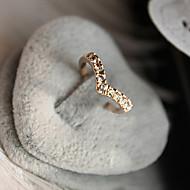 Damen Bandringe Liebe Modeschmuck Luxus-Schmuck Krystall Diamantimitate Aleación Herzform Schmuck Für Alltag