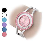 Damskie Modny Zegarek na bransoletce Kryształowy zegarek Kwarcowy sztuczna Diament Stop Pasmo Błyszczące Kółko Srebro
