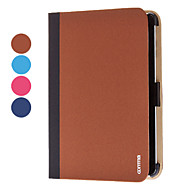 Χαμηλού Κόστους Θήκες/Καλύμματα για iPad-tok Για Μίνι iPad 3/2/1 Other Πλήρης Θήκη Συμπαγές Χρώμα PU δέρμα για iPad Mini 3/2/1