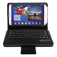 お買い得  携帯電話ケース-三星銀河タブ3 8.0 T3100のためのハイエンドワイヤレスBluetoothキーボードケース