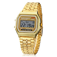 Men's Watch Dress Watch Multi-Function Square Digital LCD Dial Alloy Band  Wrist Watch Cool Watch Unique Watch Fashion Watch