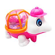 abordables Los juguetes clásicos-Madre Liquidación Running light-up tortuga rosa y naranja