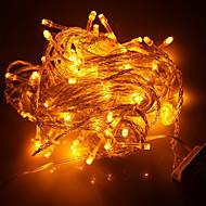 100 LED 10M 크리스마스 휴일 훈장 노란색 빛 LED 끈 빛