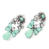 Gemstone Alloy Earring