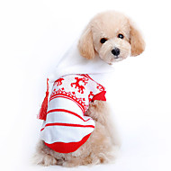 Dog Sweater Hoodie Dog Clothes Woolen Winter Holiday Christmas Reindeer Red Costume For Pets