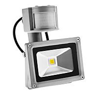 voordelige LED-schijnwerperlampen-pir 10w 900lm buitenshuis bewegende sensor dag nacht 6000k koel wit licht geleid overstromingslicht (ac85-265v)
