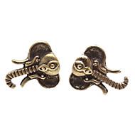 Niittikorvakorut Muoti söpö tyyli Metalliseos Animal Shape Elephant Korut Varten Päivittäin