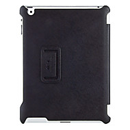 cheap iPad  Cases / Covers-Black High-Standrad Oblique Cross Pattern Cover 2 Folded Shell Protection PU Leather Case for iPad 3/4
