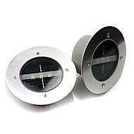 お買い得  LED ソーラーライト-1pc電源3led埋設光屋外通路ガーデンパークデッキランプホワイトウォータープルーフ