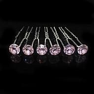 Žene Umjetno drago kamenje Legura Glava-Vjenčanje Special Occasion Pin kose 6 komada