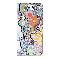 For LG Case Wallet / Card Holder / with Stand / Flip Case Full Body Case Flower Hard PU Leather LG