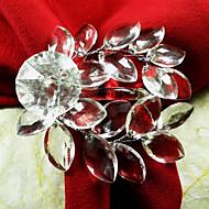 Serwetka ślubna liści akrylowy Pierścień Zestaw 12, akryl Dia 4.5cm