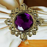 Diamante de luxo Guardanapo Set Ring Of 12, Cristal Dia 4,5 centímetros