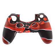 Silicone Skin Case for PS4 Controller (Black & Red)