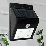 お買い得  LED ソーラーライト-1個 ウォールライト / ガーデンライト 4 LEDビーズ ハイパワーLED 装飾用 クールホワイト
