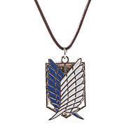 Χαμηλού Κόστους Στολές Ηρώων και Κοστούμια-Κοσμήματα Εμπνευσμένη από Επίθεση στον Τιτάνα Cosplay Anime Αξεσουάρ για Στολές Ηρώων Κολιέ / Φτερά Λευκό / Μπλε Ανδρικά / Γυναικεία