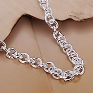 cheap -Women's Silver Plated Heart Shape Charm Bracelet