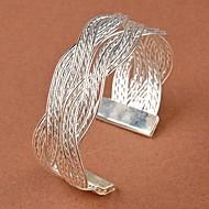 Women's Plaited Bracelet Bangles Cuff Bracelet - Flower Unique Design, Vintage, Party Bracelet Gold / Silver For Wedding Party Daily