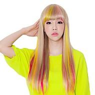 clip en extensiones de pelo sintético postizos múltiples colores disponibles