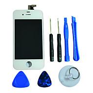 Écran LCD tactile en verre Digitizer écran avec Framee et de l'Assemblée Outils pour l'iPhone 4S