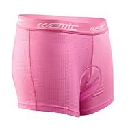 저렴한 -SANTIC 싸이클 이너쇼츠 여성용 자전거 속옷 반바지 패드 반바지 하단 수분 투과율 통기성 3D 패드 100% 폴리에스터 솔리드 봄 여름 겨울 가을 사이클링/자전거 핑크