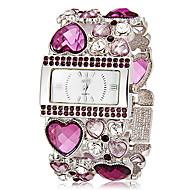 Mujer Reloj de Moda Reloj Pulsera Japonés Cuarzo La imitación de diamante Banda Destello Heart Shape Bohemio Elegantes Verde Dorado Morado