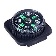 Supervivencia al aire libre Mini brújula con reloj de cuero de la PU Diseño Adjunto