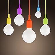 povoljno -sl® mini privjesak, 1 svjetlo, moderni minimalistički silikonski bombona boje