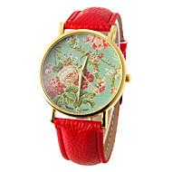 cheap Watch Deals-Women's Wrist Watch Casual Watch PU Band Flower / Fashion Black / White / Red