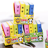 Book Shaped Eraser(4 PCS)